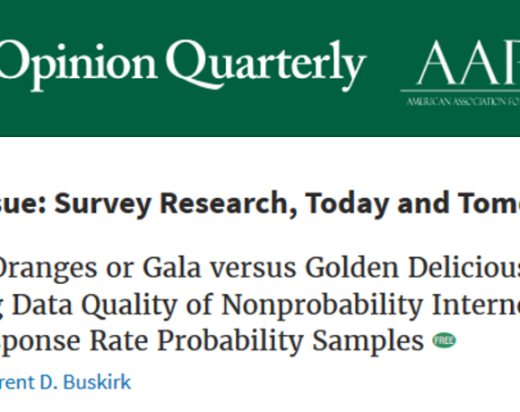 Dutwin and Buskirk Lead 2017 Public Opinion Quarterly Special Issue