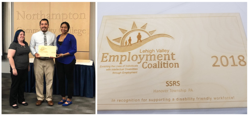 SSRS Receives Lehigh Valley Employment Coalition Award