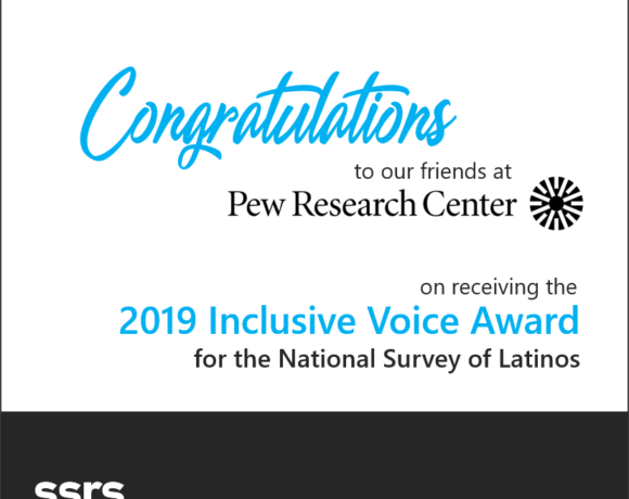 Pew Research Receives 2019 Inclusive Voice Award
