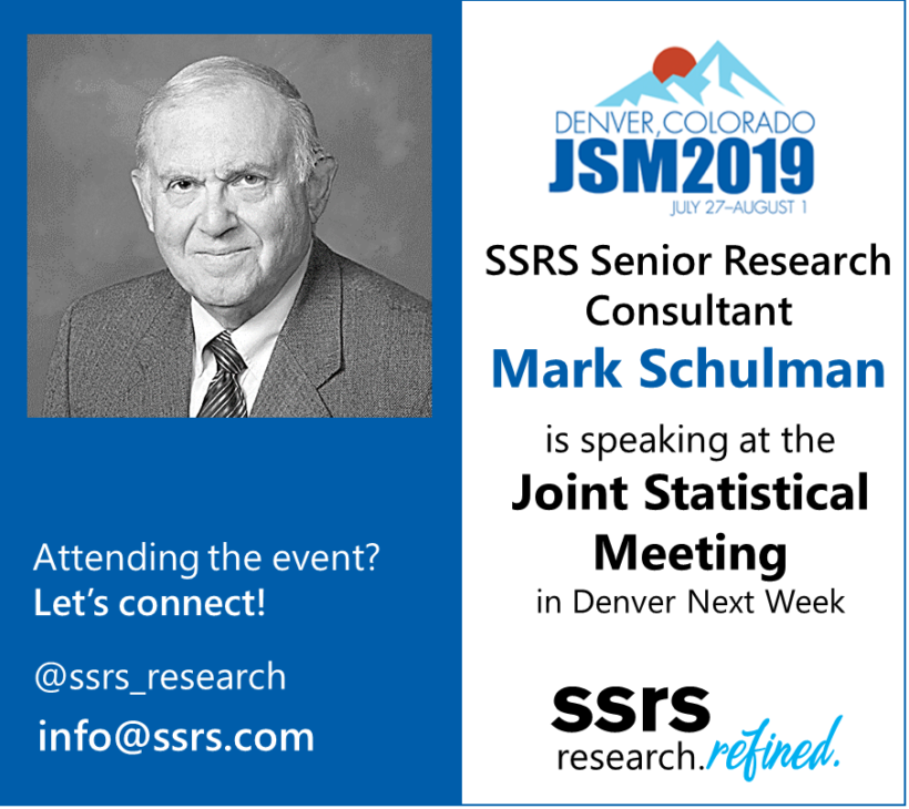 Mark Schulman Speaking at JSM 2019