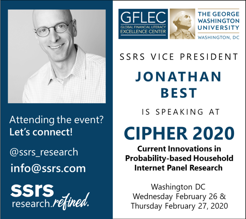 SSRS VP Jonathan Best Speaking at CIPHER 2020