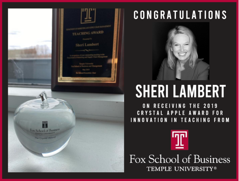 Sheri Lambert Receives Award for Innovation in Teaching