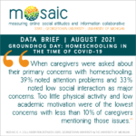 MOSAIC BRIEF: Homeschooling in the Time of COVID-19