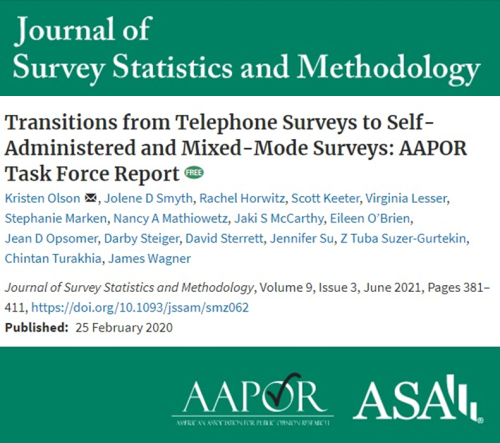 Transitions from Telephone Surveys to Self-Administered and Mixed-Mode Surveys