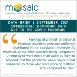 Differential Economic Pain Due to the COVID Pandemic
