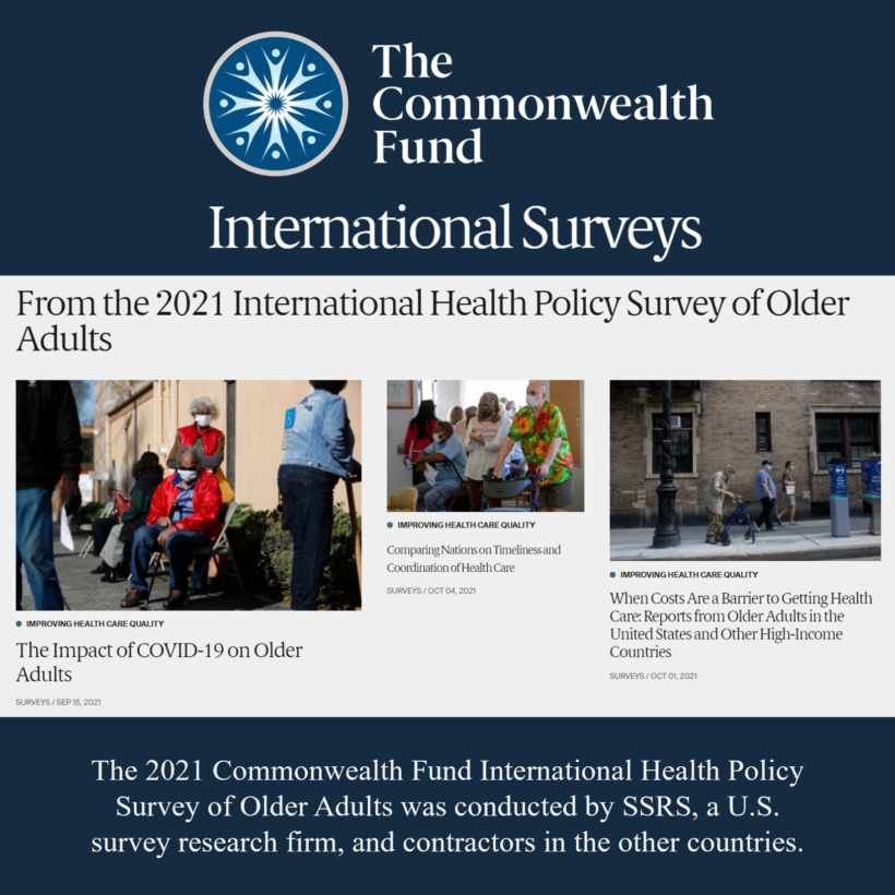 Commonwealth Fund 2021 International Health Policy Survey of Older Adults